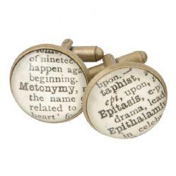 Literary Term Cufflinks